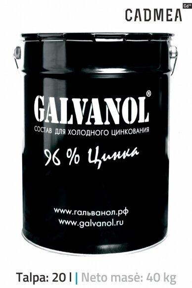 Šalto cinkavimo mišinys «GALVANOL», 40 kg