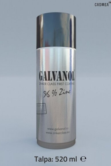 Šalto cinkavimo mišinys «GALVANOL», aerozolis 520 ml
